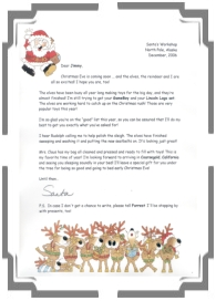 Jolly holiday letters letter from santa santa letter sample spiritdancerdesigns Gallery